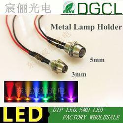 100 stücke 12 V/24 V vorverdrahtet 3mm Helle LEDs Birne mit Lampe halter warmweiß/rot/Grün/Blau/Gelb/Weiß/Orange 20 cm Prewired LED