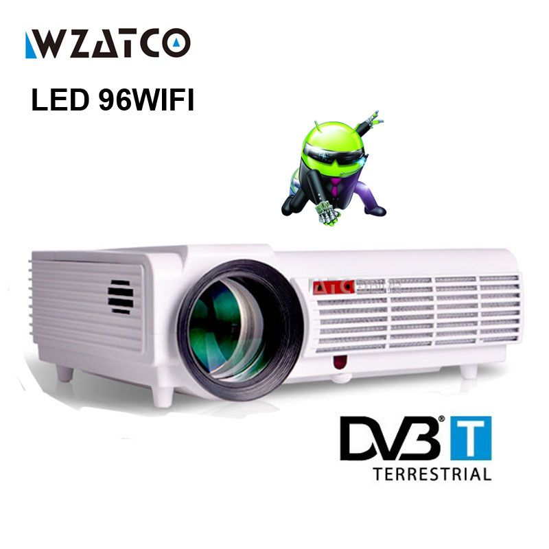 WZATCOLED96 Android WIFI 5500lumen Video HDMI DVBT TV Full HD 1080P Home Theater 3D LED projector Projetor proyector beamer bt96