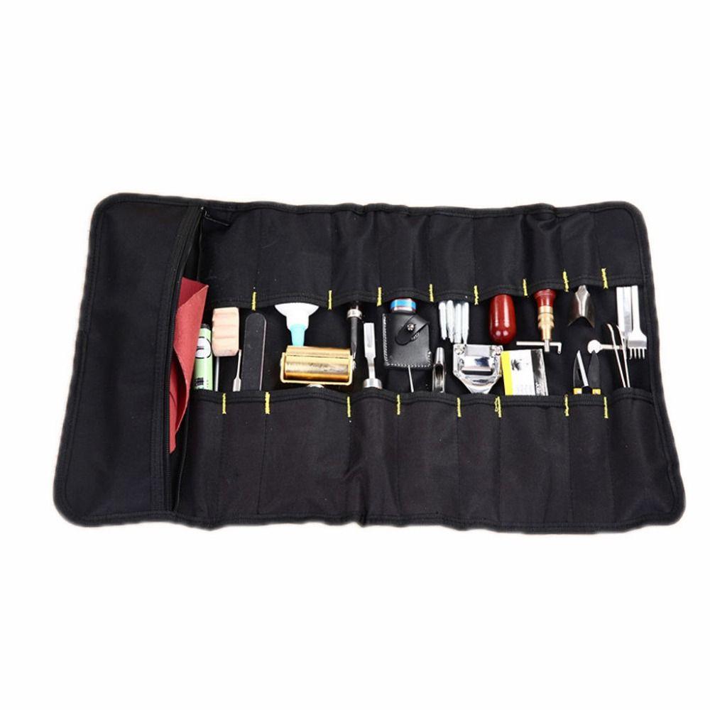 Для кожи Craft DIY инструмента инструментарий мешок руки Кожа Инструменты сумка для хранения Новый