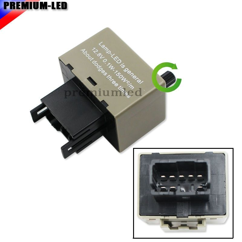 8-Pin Flashing Speed Adjustable Electronic LED Flasher Assy Relay Fix For Lexus Scion Toyota LED Turn Signal Light Bulbs