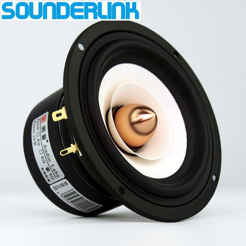 2 teile/los Sounderlink Audio Labs Top end 4 zoll Vollständige Palette monitor Lautsprecher hochtöner tieftöner Aluminium Kugel 2 Schicht kapton kegel