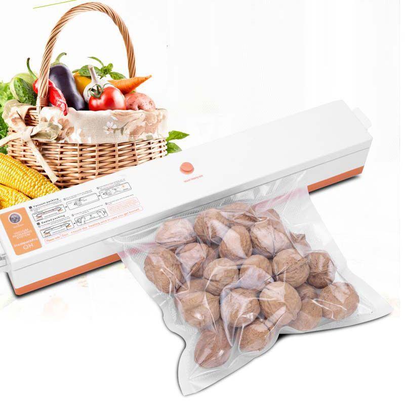 EU/UA 220V Household Food Vacuum Sealer Packaging Machine Film Sealer Vacuum Packer Including 15Pcs Bags
