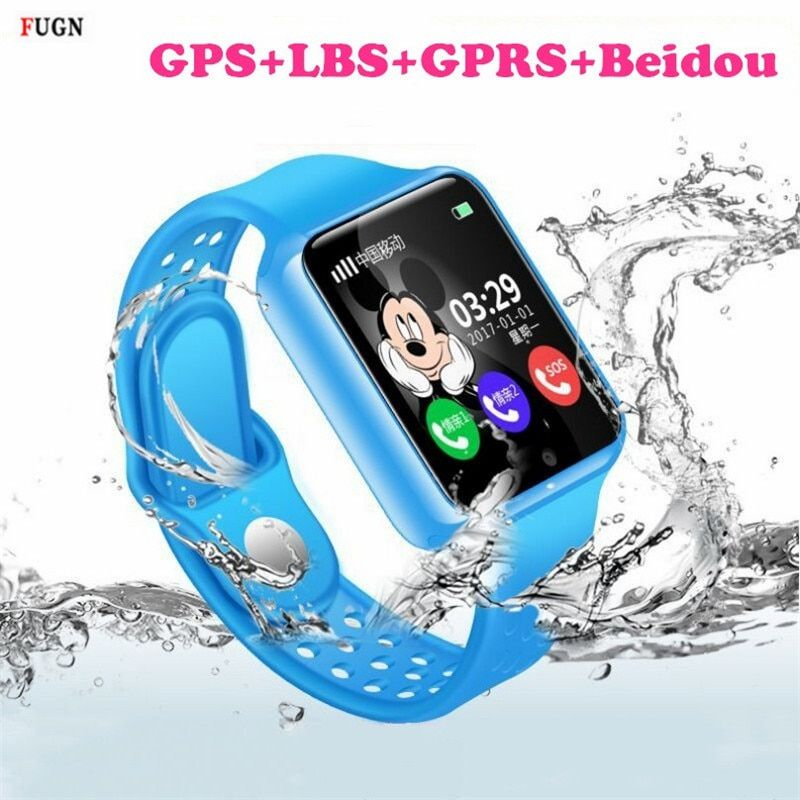 Children Waterproof Smart Watch V7KS Security Anti-lost GPS Tracker Smartwatch Camera SIM Card Kid SOS Emergency Phone Best Gift