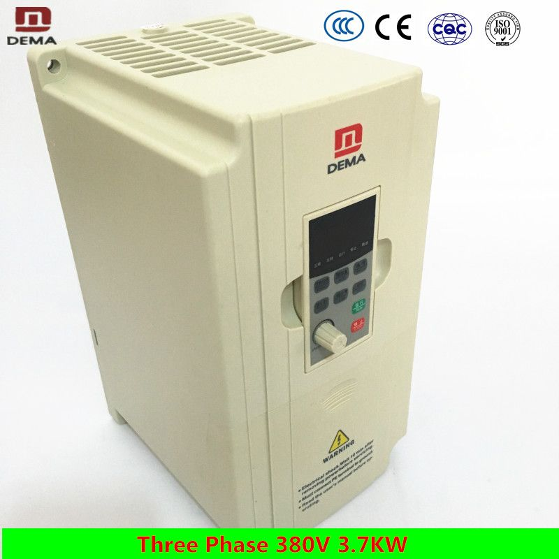 DEMA Three Phase 380V Input AC 3.7KW High Power Frequency Converter Solar Water pumping System Inverter 380V Three Phase Output