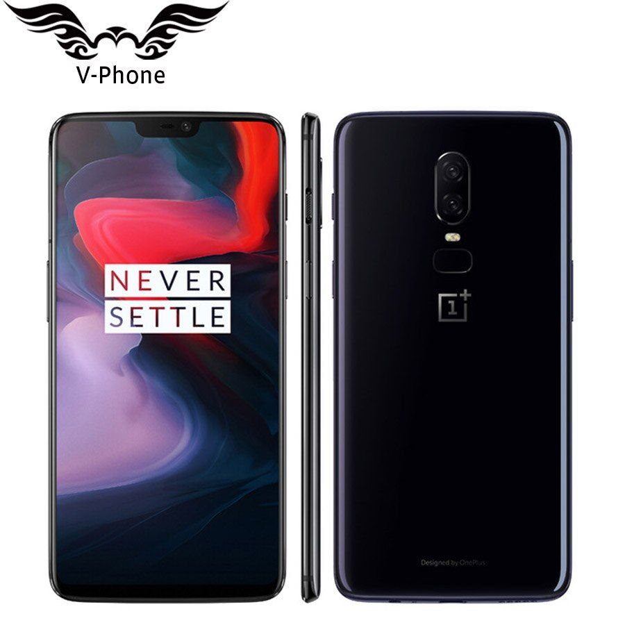 6.28' Oneplus 6 A6000 6GB RAM 64GB ROM Android 8.1 Snapdragon 845 Octa Core Mobile Phone FingerPrint Face unlock