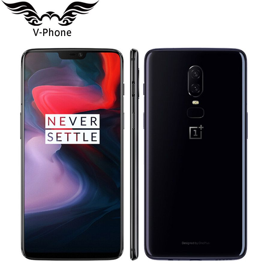 6.28 inch Oneplus 6 6GB RAM 64GB ROM Android 8.1 Snapdragon 845 Octa Core Mobile Phone FingerPrint Face unlock Global Firmware
