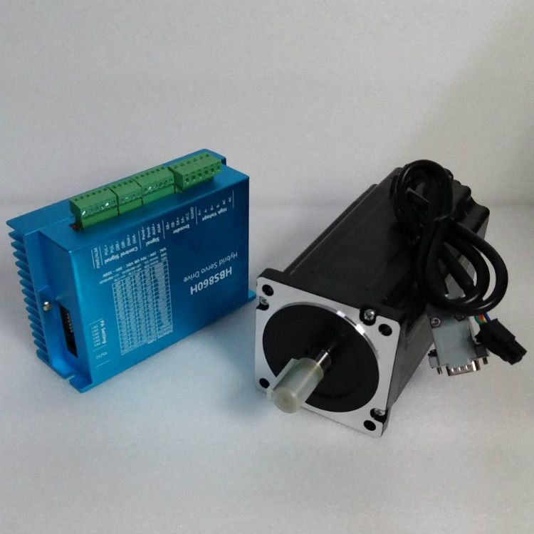 Free Shipping Nema 34 12.5N.m Closed Loop Stepper Motor Kit Hybird Servo Driver 86HBS120+HBS860H 86 2 Phase Stepper Motor