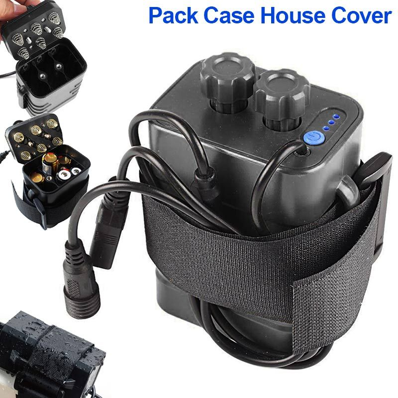 Portable 8.4V 18650 Waterproof Battery Pack Case 6 Pcs Batteries Holder Storage Box House Cover for Bicycle Bike Lamp B2Cshop