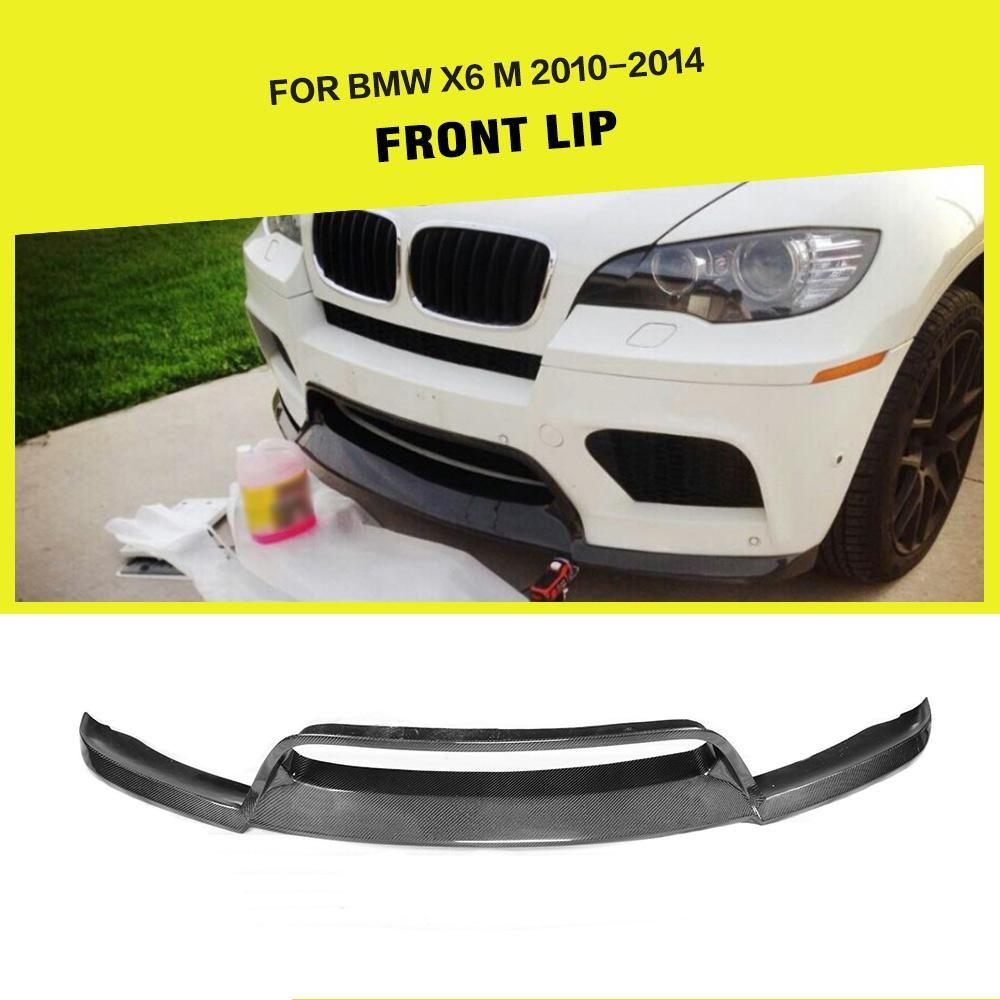 Für BMW E71 X6M Stoßstange 2008-2013 Auto Vorderen Stoßfänger Lip Spoiler Schürze Splitter Carbon Fiber/FRP