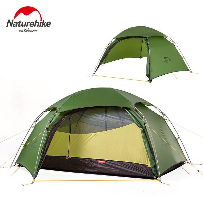 Naturehike Wolke Spitzen 2 Person Zelt Outdoor Camping Regendicht Zelt Klettern Picknick Aluminiumstange 4 Jahreszeiten Zelt NH17K240-Y