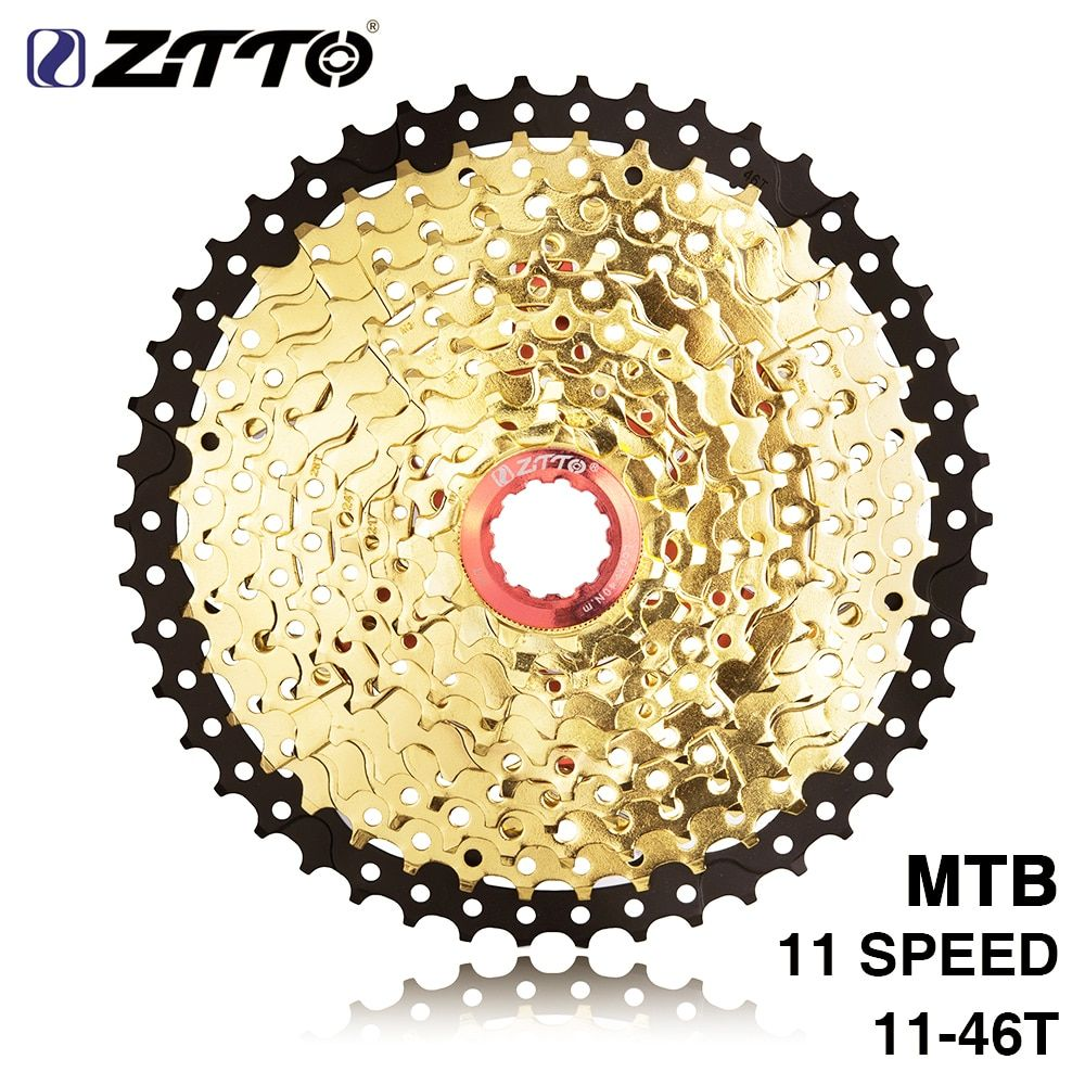 ZTTO 11s 46T SL L Black Gold MTB Mountain Bike Bicycle Parts 11 11v 22s 11 Speed Freewheel Cassette for XT K7 X1 X01 GX NX 1X