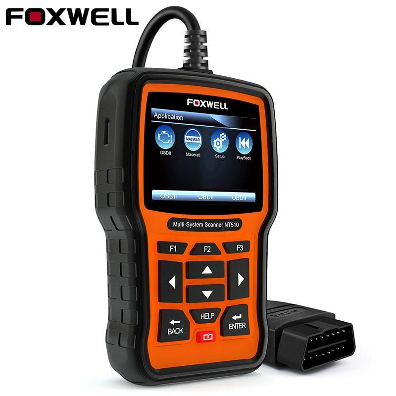 Foxwell NT510 OBD2 Car Diagnostic Tool for Maserati Porsche Ferrari BMW Hyundai ABS Airbag Oil Reset Full System Auto Scanner