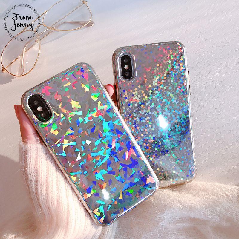 De Jenny laser caliente del teléfono móvil para el iPhone 6x6 S 7 8 más 8 más 4.7 pulgadas 5.5 + Soft TPU contraportada Conchas fundas