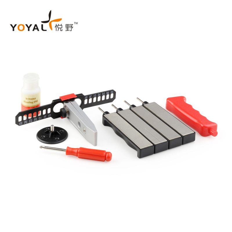 YOYAL Multifunction Professional Outdoor Knife Sharpener System apex edge pro Sharpener Tools amolador de facas with 4 stones