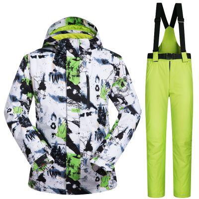 Neue Outdoor-sportarten Skianzug Männer Winddicht Wasserdicht Thermo Snowboard Schnee Skifahren Jacke Und Hosen Skibekleidung Eislaufen Kleidung