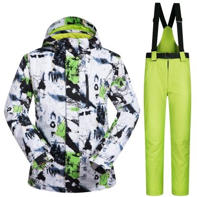 New Outdoor Sports Ski Suit Men Windproof Waterproof Thermal Snowboard Snow Skiing Jacket And Pants Skiwear Ice Skating Clothes