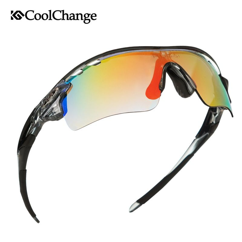 CoolChange Polarized Cycling Glasses Bike Outdoor Sports Bicycle Sunglasses For Men Women Goggles Eyewear 5 <font><b>Lens</b></font> Myopia Frame