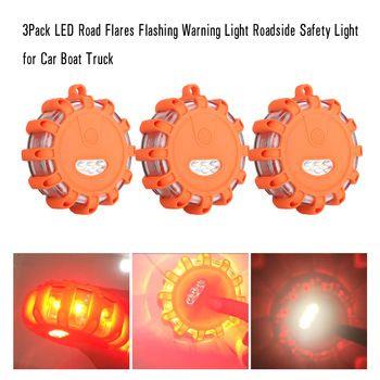 3 шт светодиодный дорожный вспышек мигает Предупреждение свет придорожных Детская безопасность свет для автомобиля Лодка Грузовик