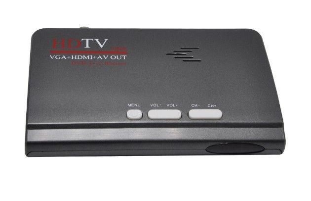 HD TV box DVB T2 récepteur terrestre DVB-T2 DVB T prise en charge VGA + HDMI + AV sortie pour la russie/Europe/asie centrale/Columbia DVBS918