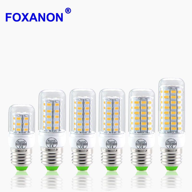 5730 SMD 24 - 72LEDs CFL 10W 15W 20W E14 E27 LED lamp 230V Spotlight Candle light LEDs Bulb Chandelier For Indoor lighting