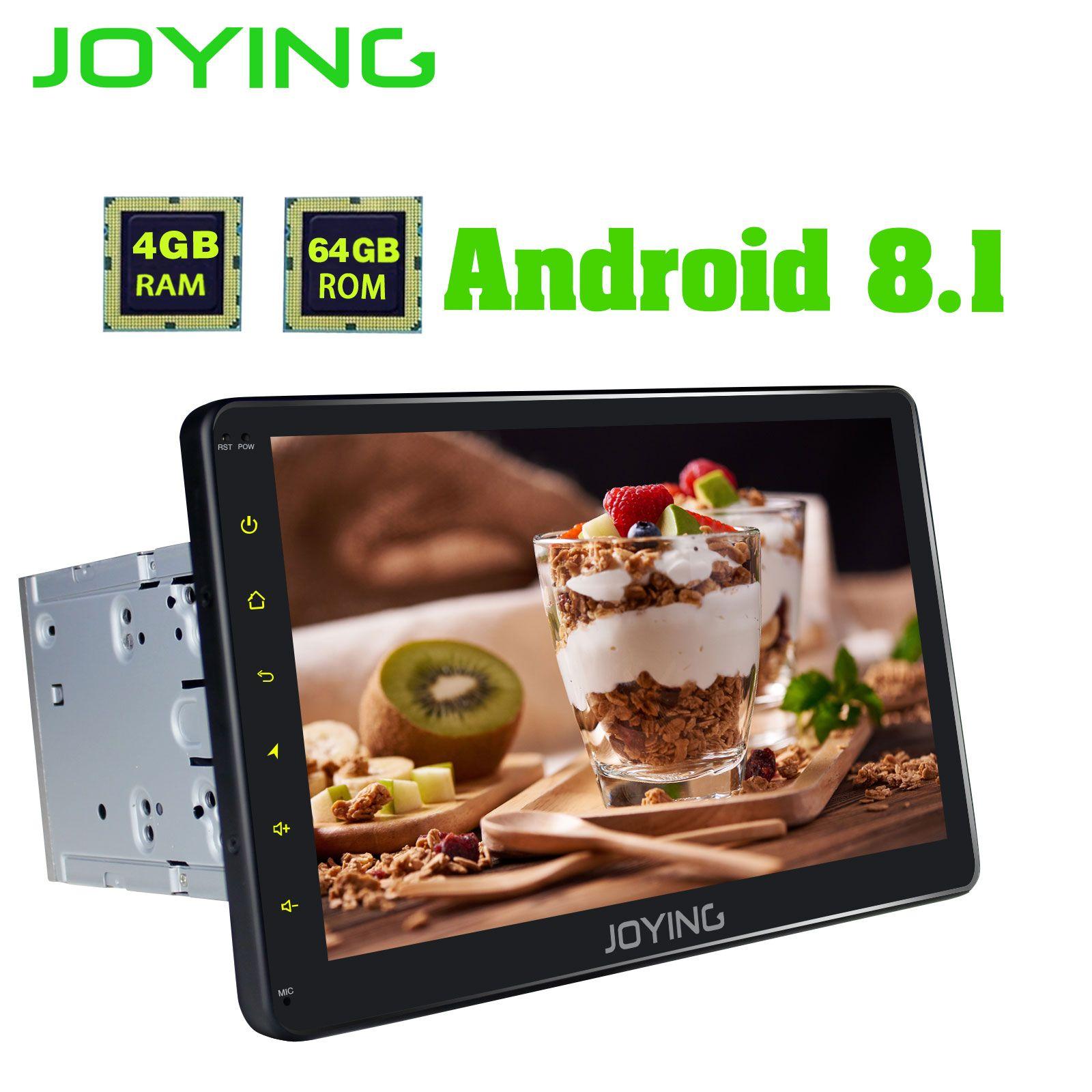 Android 8.1 2 din autoradio Octa Core 4GB + 64GB 10.1 IPS 1280*720 prise en charge HD 4G/lecteur de cassette radio sans fil Carplay/DSP/SWC