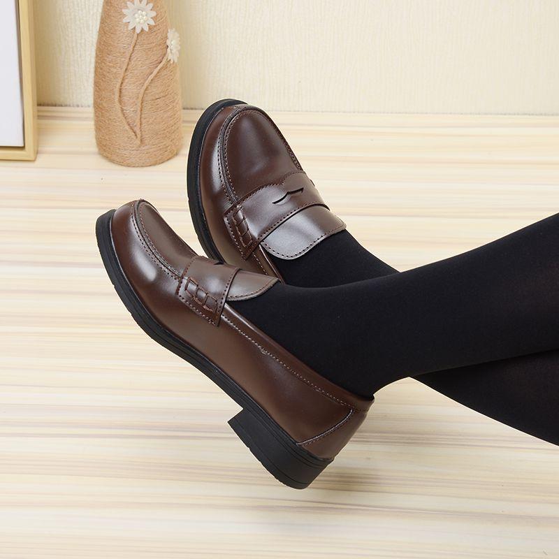 2019 nouveau Style japonais collège étudiant chaussures Cosplay Lolita chaussures pour femmes/fille mode noir/café plate-forme chaussures taille 35-40
