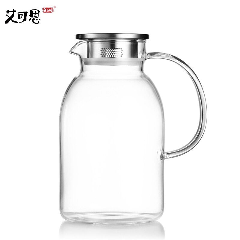 X&W 1.8/2.2L Water Pots Kettle Large Capacity Borosilicat Glass Water Jug With Lid Cold Heat Resistance Leakproof Drinkware