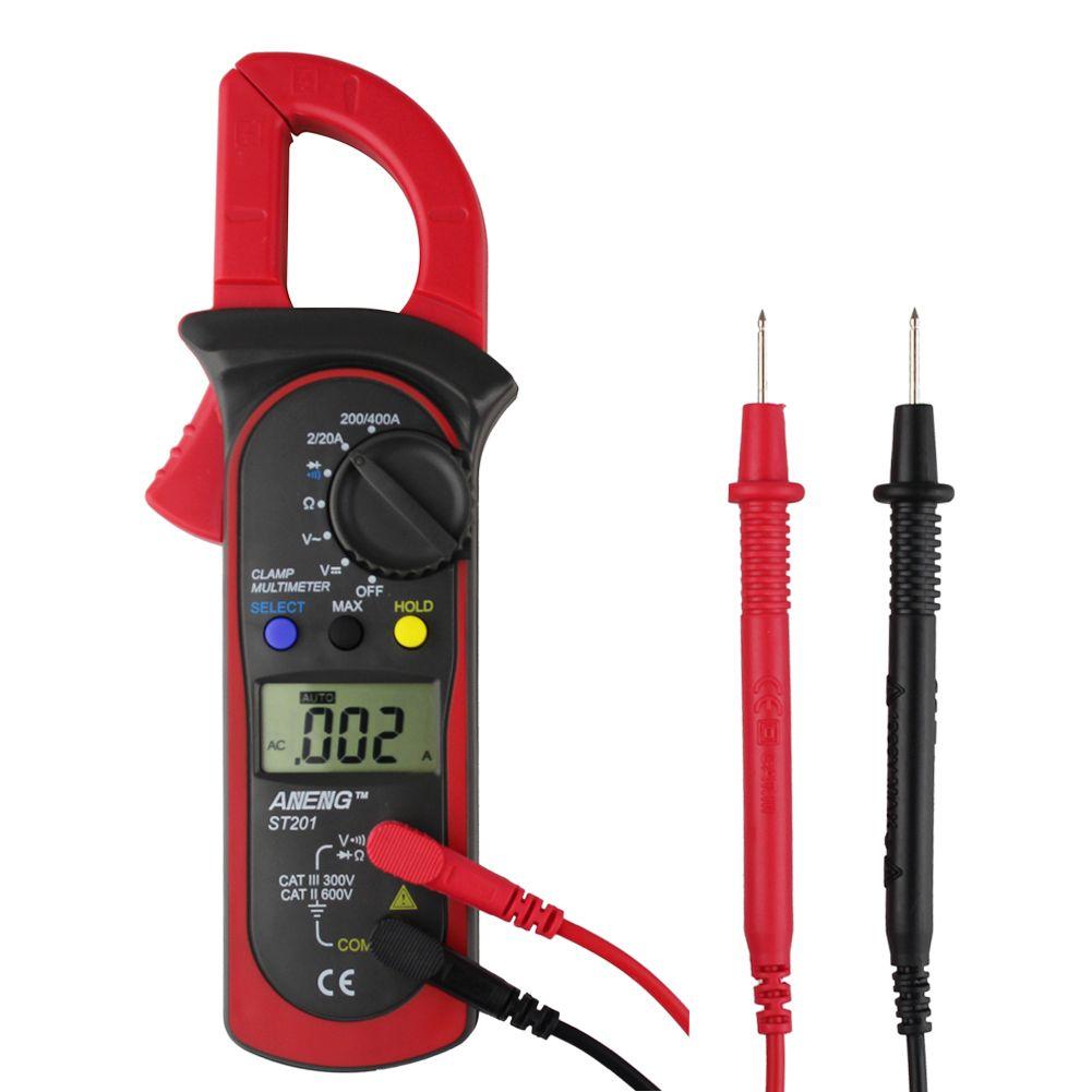 ST-201 Digital Auto Range Strommesszange AC DC Strom Spannung Kapazität Messwerkzeuge Digitale Clamp Multimeter