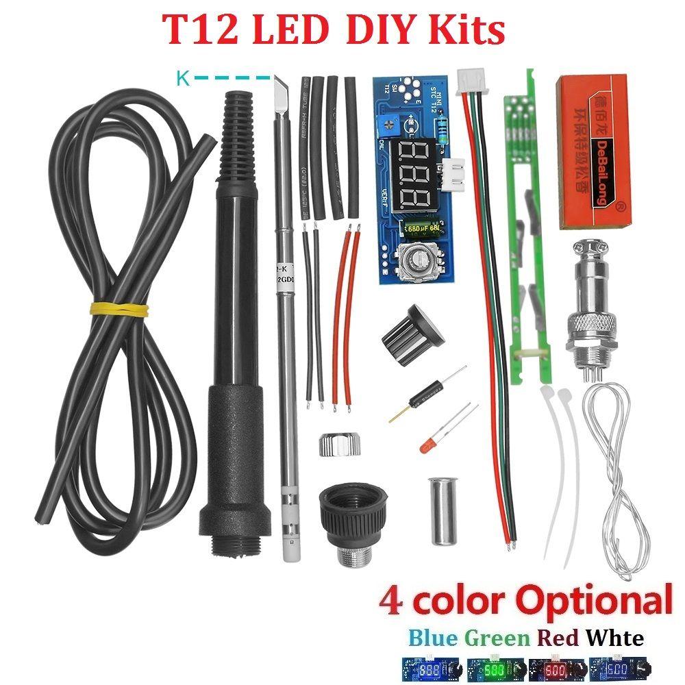 Kits de régulateur de température de Station de fer à souder numérique d'unité électrique pour les kits de bricolage de poignée de HAKKO T12 avec le commutateur de vibration de LED