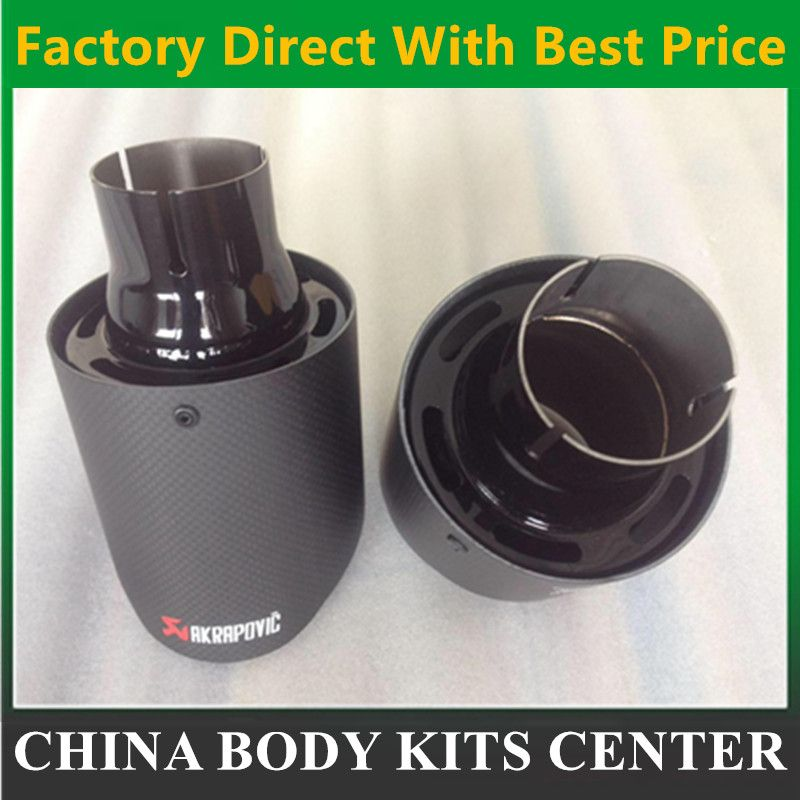 2017 NEW Black Stainless Steel  Akrapovic exhaust car carbon Exhaust Tip car-styling exhaust pipe muffler tip
