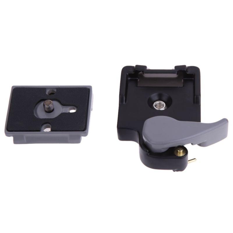 Черный Камера 323 Quick Release Plate Гора Адаптер с Manfrotto 200PL-14 Compat, 1/4 дюйма Металлические винтовые
