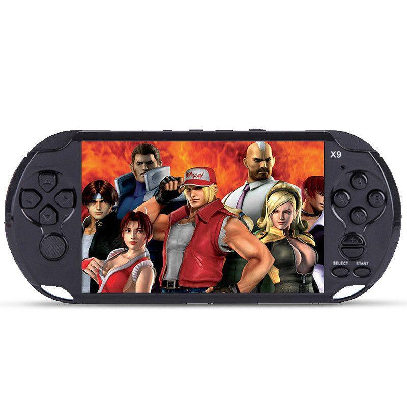 X9 De Poche console de Jeu Vidéo 5.1 pouce Écran Consoles Support TV sortie Avec MP3 Film support de Caméra pour GBA GBS arcade jeux