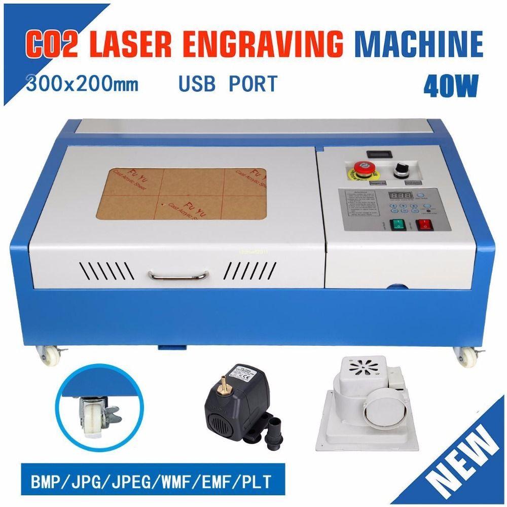 UK Verschiffen! Neue 40 W 220 V Gravur Schneiden CO2 Laser USB Maschine Engraver Cutter holz Freies geschenk