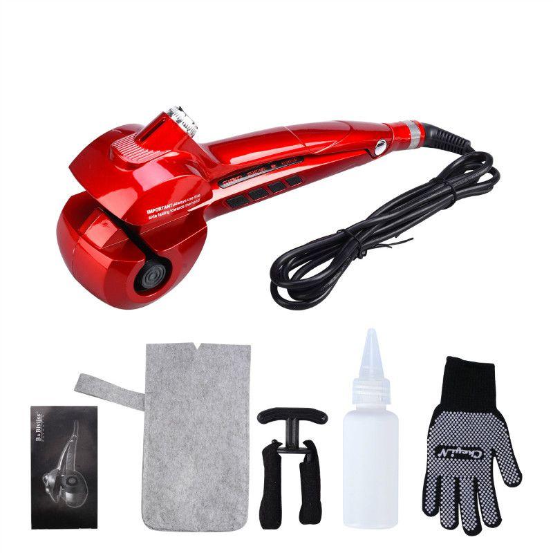 CkeyiN Automatic Curling Iron Spray Steam Hair Curler LED Digital Ceramic Hair Styler Curler Electric Wave Hair Curling Tool