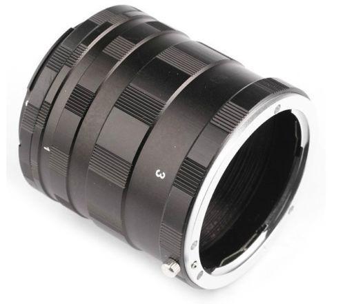 JINTU Métal D'extension Macro Tube Adaptateur Bague pour monture Nikon F D3200 D3300 D3400 D5200 D5300 D5500 D90 D7500 D200 D300 D600