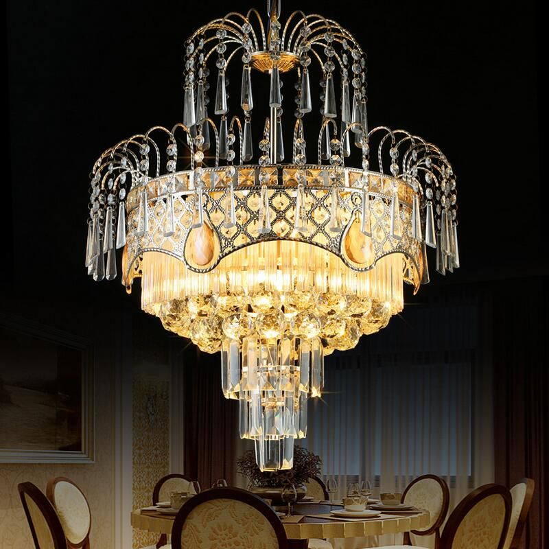 Modern Lustre K9 Crystal Chandelier Lighting Led Chandeliers Lamp Bedroom Dining Room Hotel European Simple Light