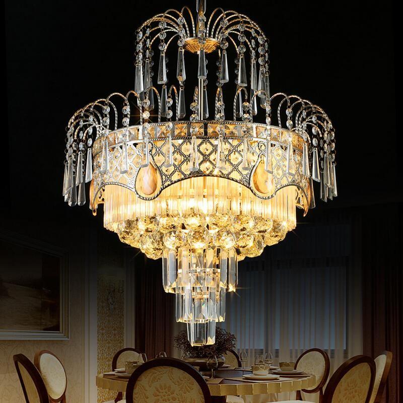 Modern Lustre K9 Crystal Chandelier Lighting Led Chandeliers Lamp Bedroom Dining Room Hotel European Simple Light