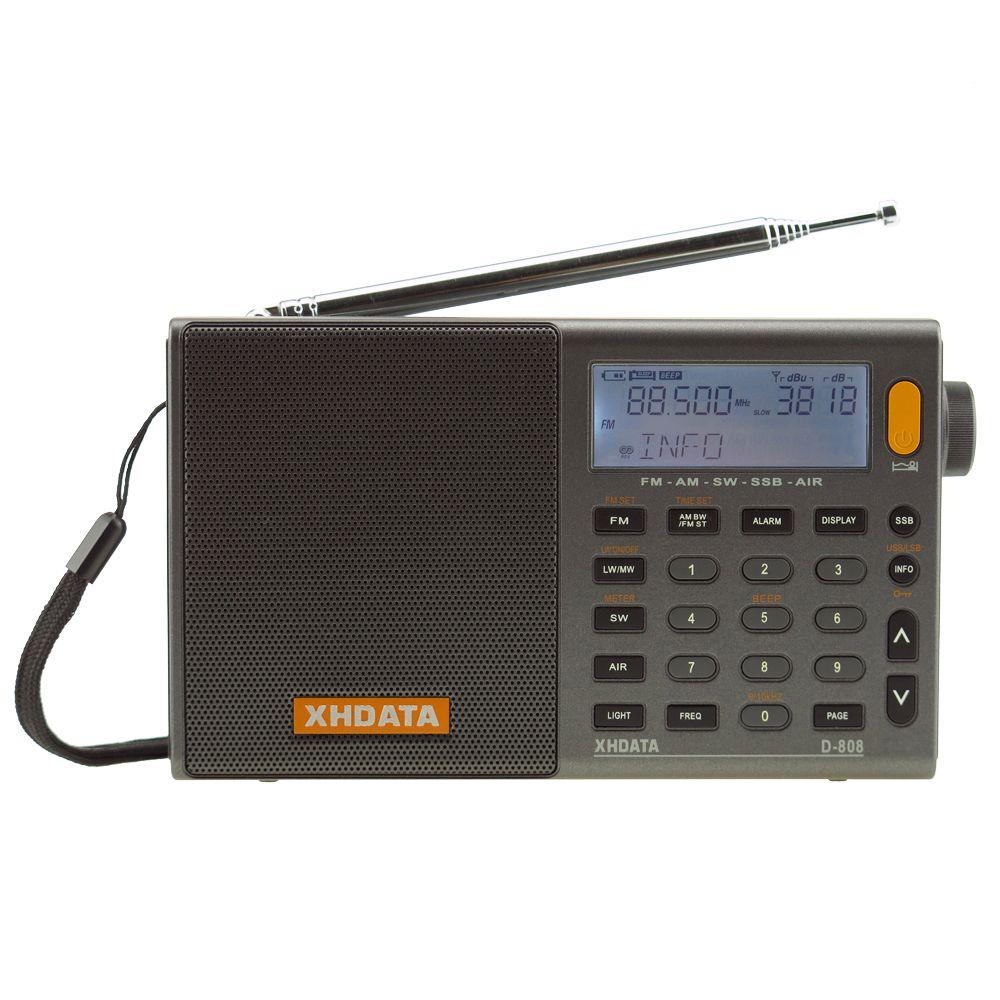 XHDATA D-808 Portable Digital Radio FM stereo/SW/MW/LW SSB AIR RDS Multi Band