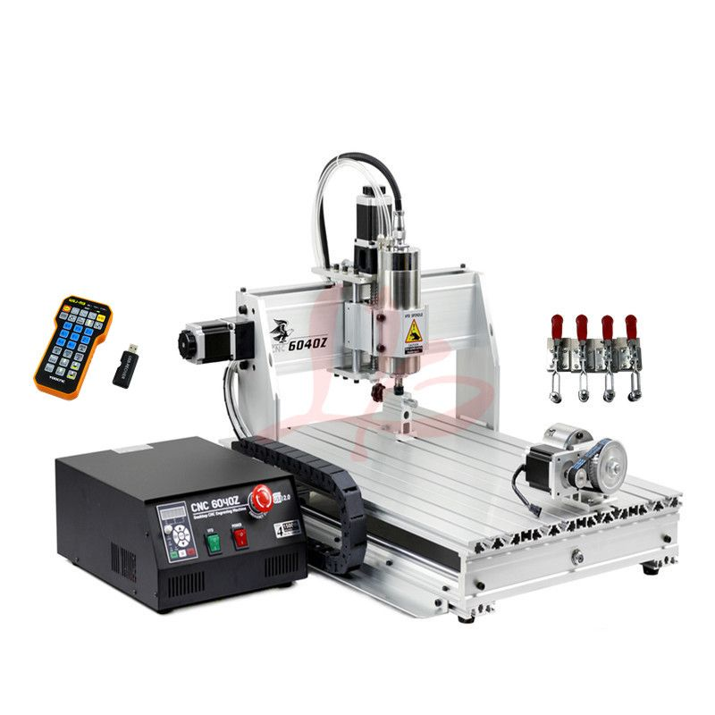 2200W spindle YOOCNC wood router 6040 USB port DIY mini milling engraving machine with limit switch and cutter collet clamp vise