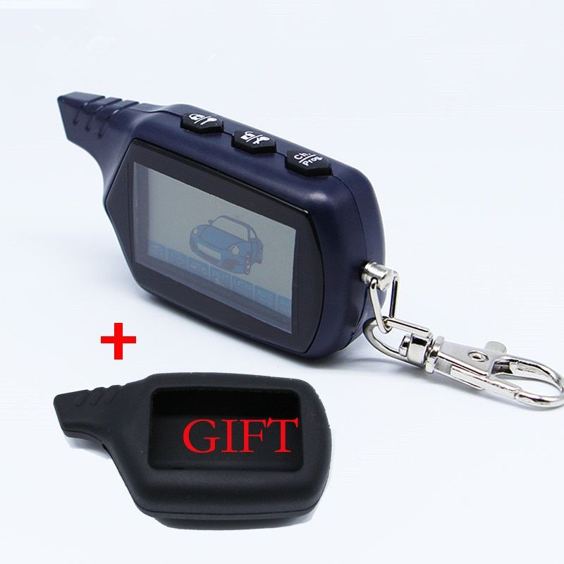 Russian Version Keychain B9 Starline LCD Remote Controller For Two Way Car Alarm Starline B9 Twage Keychain alarm auto
