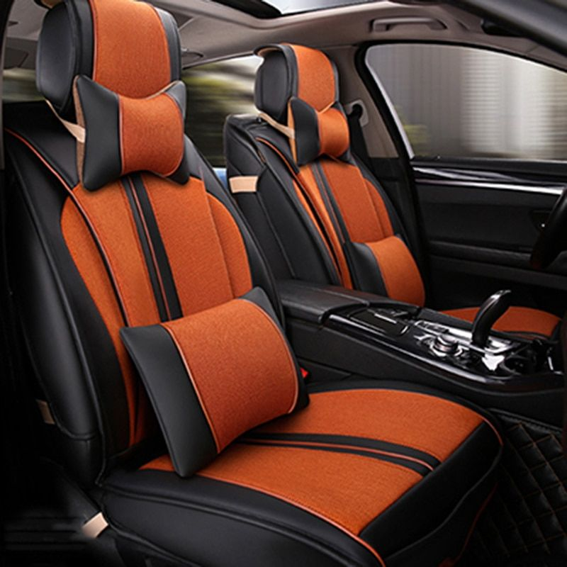 Universal Leather car seat covers For Citroen C3-XR C4 Cactus C2 C3 Aircross SUV DS car accessories car Stickers car- styling