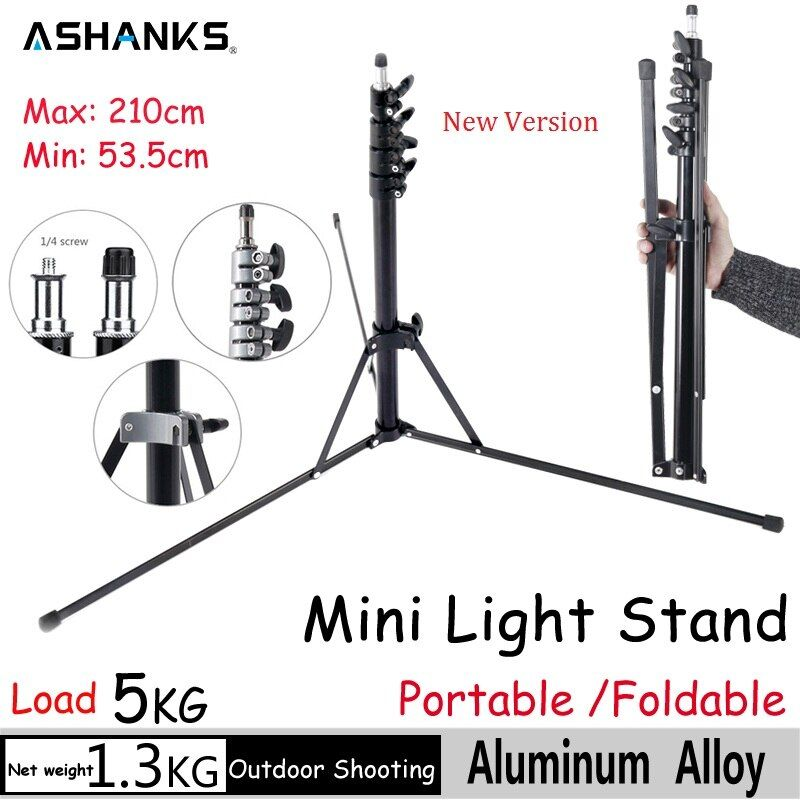 ASHANKS Portable Light Stand for Camera Photography 2.1m/6.8FT Tripod Stand Bracket Holder Softbox Photo Video Light Flash Lamp