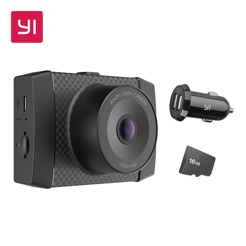 YI Ultra Dash Kamera Mit 16g Karte Schwarz 2,7 karat Auflösung A17 A7 Dual Core-Chip Voice Control licht sensor 2,7-zoll Widescreen