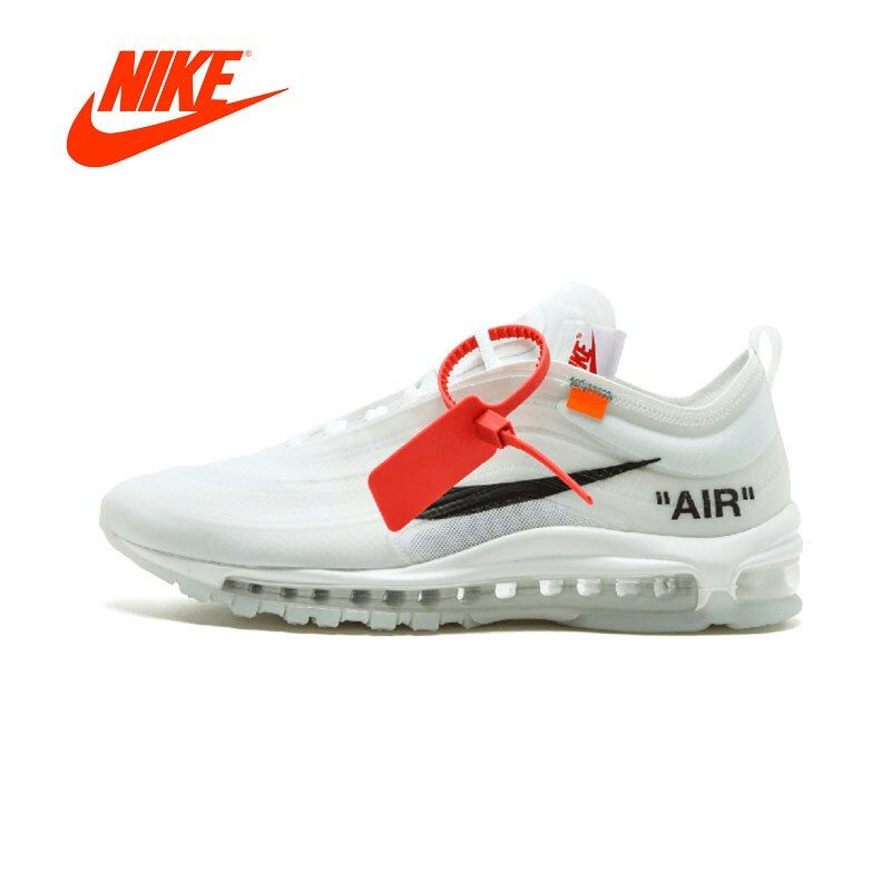 Original New Arrival Authentic NIKE Air Max 97 OG Off White Mens Running Shoes Sneakers Sport Outdoor Good Quality AJ4585-100