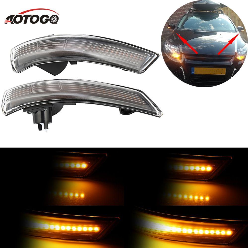 2pc Dynamische LED Blinker Licht für ford focus 2009-2011 Seite Spiegel Blinker Licht Auto Sequentielle Spiegel für Ford Focus 08-16
