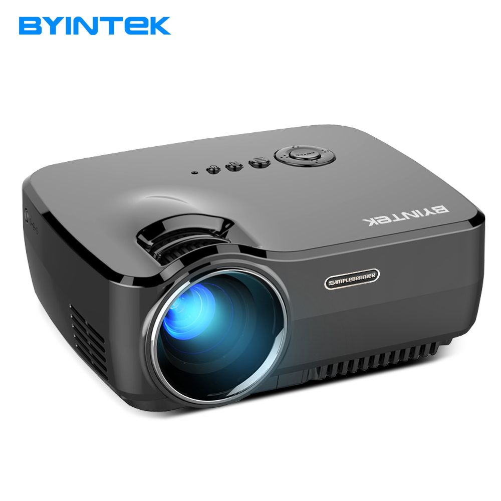 Projector BYINTEK SKY GP70 2018 Hottest Portable Led Projector HD Pico USB <font><b>HDMI</b></font> LCD cinema LED Mini Video Digital Home Theater