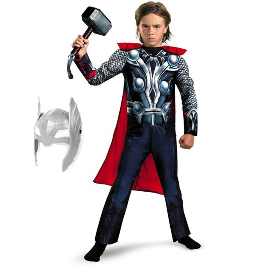 Avengers Endgame superhéros partie Cosplay Muscle Thor homme capitaine amérique Costume garçons Batman Cosplay Halloween Superman uniforme