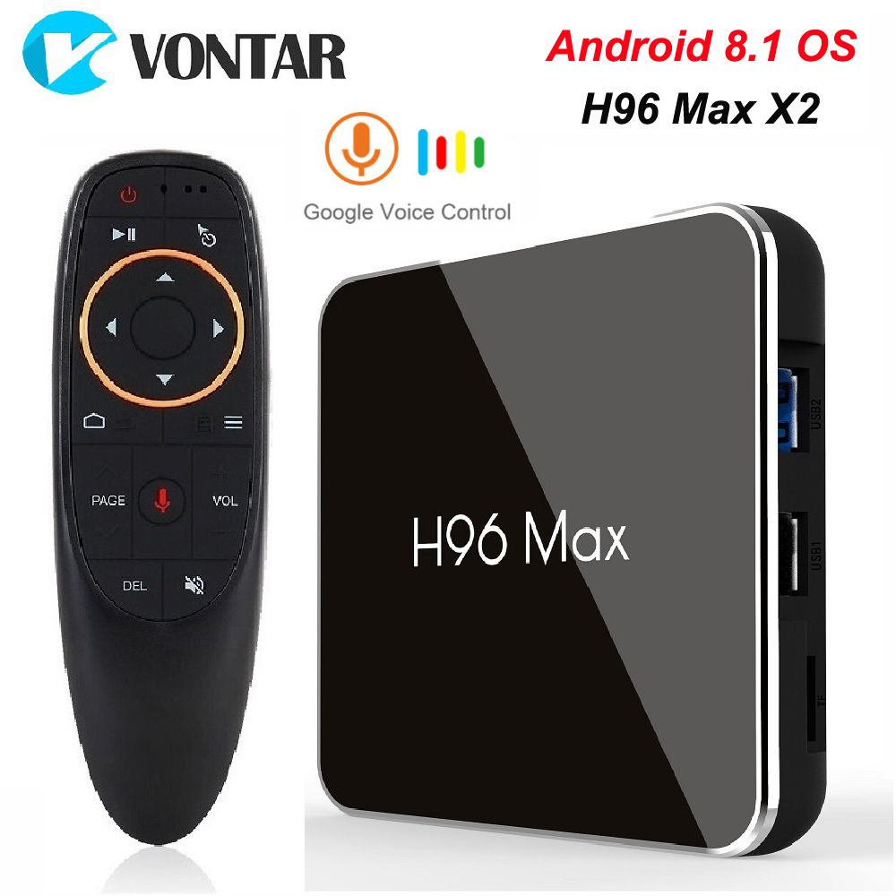 H96 MAX X2 TV Box Android 8.1 4GB RAM 64GB S905X2 USB3.0 1080P H.265 4K Google Play Store Netflix Youtube H96MAX Smart TV Player