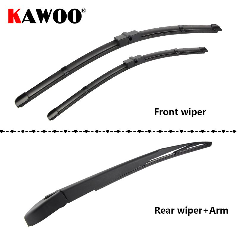KAWOO Car Wiper Blade Windscreen Front Rear Wipers Blade For Ford Focus 2 Hatchback, 2004-2011 year Auto Car Accessories Styling