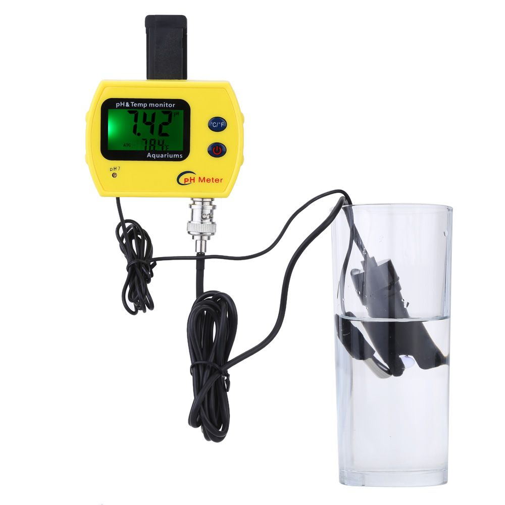 High Precision Online pH Meter for Aquarium Acidimeter Water Quality Analyzer pH &TEMP Meter Measure Household Drinking Solution
